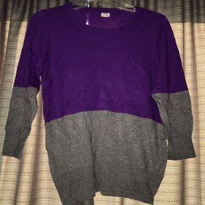 J crew medium sweater grey purple